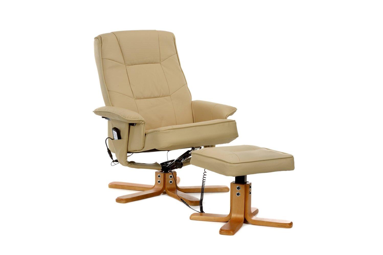 neu fernsehsessel massagesessel leder neu ovp farbe beige tiefpreis ebay. Black Bedroom Furniture Sets. Home Design Ideas
