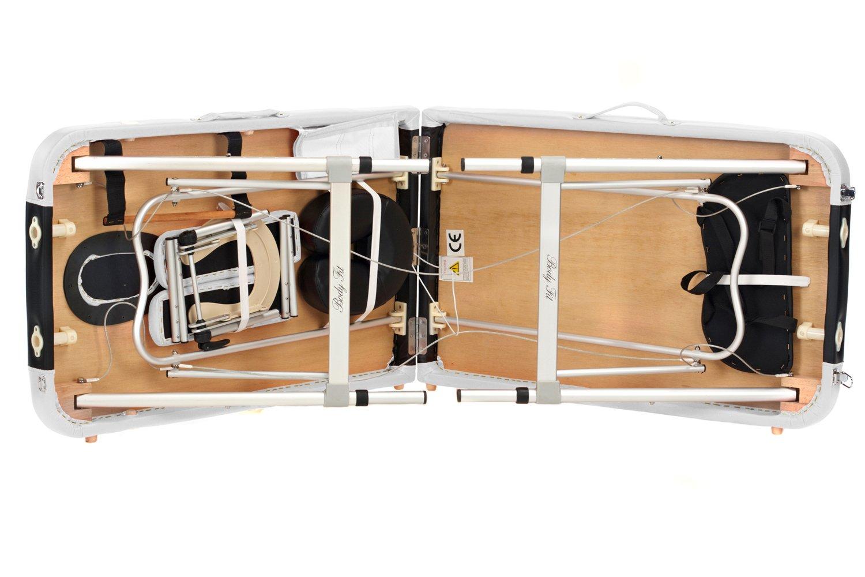 Стол массажный алюминиевый 2-х сегментный Body Fit, однотонные и двухцветные. Польша. 12 - фото 4